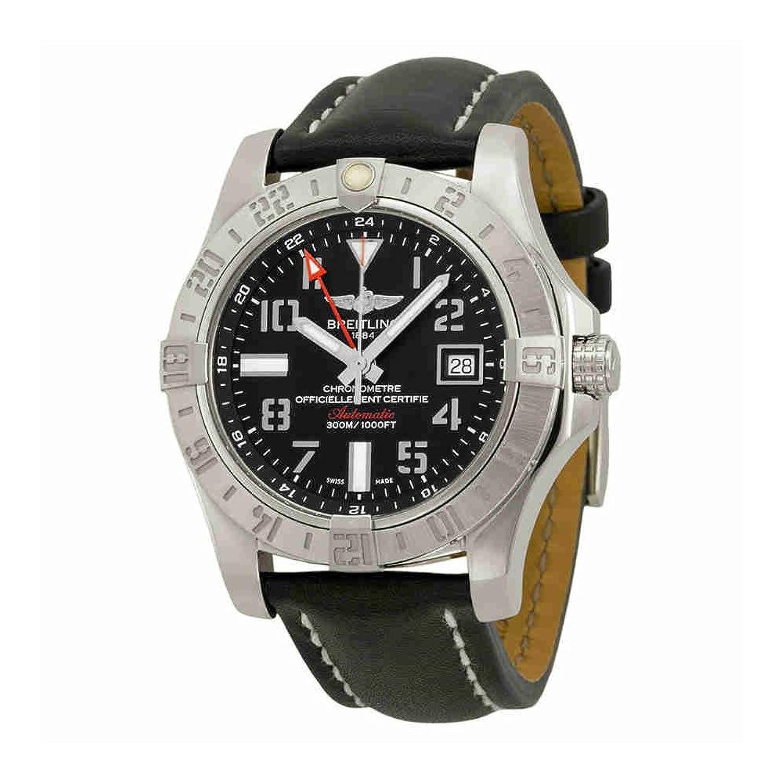 Breitling Avenger II GMTブラックダイヤル自動メンズ時計a3239011-bc34bklt B00YEWVB30