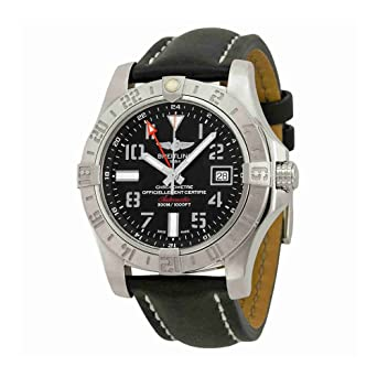 newest collection c5a46 d8bef Amazon.com: Breitling Avenger II GMT Black Dial Automatic ...