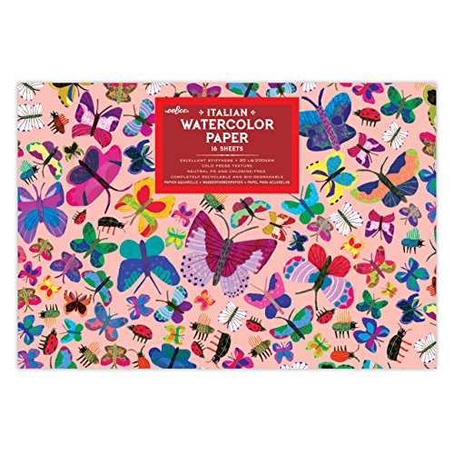 eeBoo Butterflies Watercolor Paper Pad