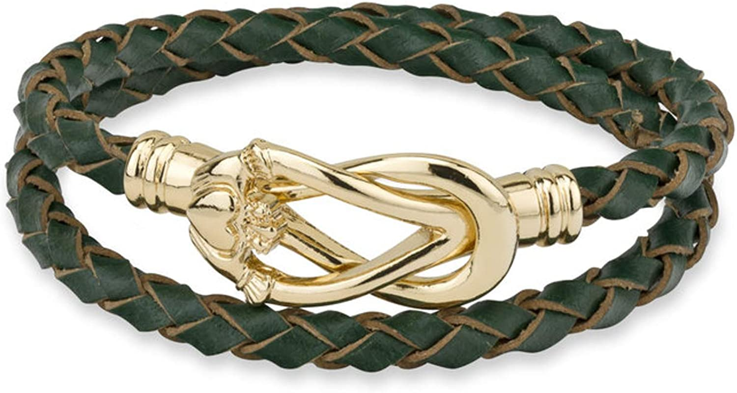 Irish Rose Gifts Claddagh Leather Wrap Bracelet - Gold Plated Solvar Jewelry Made in Ireland