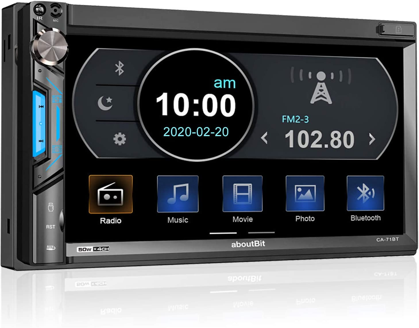 aboutBit Bluetooth 7 inch HD Touchscreen Car Audio Receiver