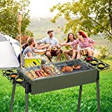 Heavy-Duty Group Gatherings Grill Army Green Handy Crimp 30.327.28 17.32-inch Stainless Steel Picnic Broad Charcoal BBQ Stove Terrace Deck Camping