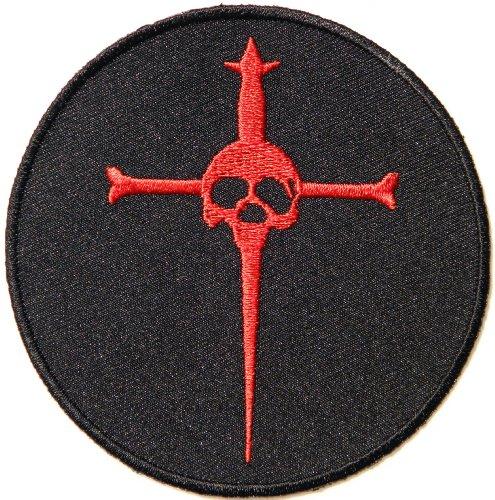 Red Skull Sword Pirate Halloween Rider Biker Racer