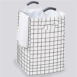 homyfort Large Laundry Hamper Basket 2 Section Hampers, Storage Basket Bag Bin with Study Aluminum Handles for Washing Storage