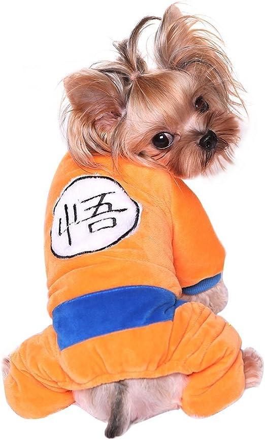 Wildforlife Dragon Ball Son Goku Warm Winter Klein Katze Hund Overall Kostum Amazon De Haustier