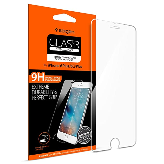 buy popular 58588 a8f40 Spigen Glas tR Slim iPhone 6 Plus Screen Protector with Tempered Glass for  iPhone 6 Plus / iPhone 6s Plus