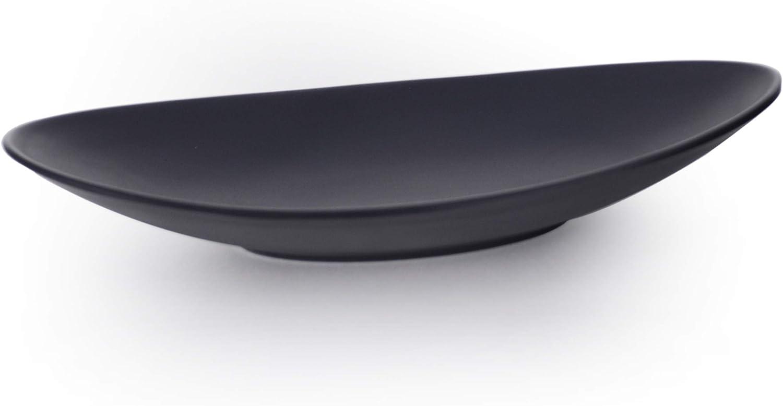 Oval 7.25 x 4 Itamae Tableware Matte Black Melamine Oval Shape Shallow Plate Appetizer Tempura Yakitori Sushi Sashimi 6 PC Pack Restaurant Supply Grade