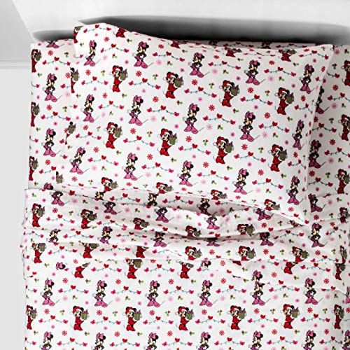 Mickey Mouse & Minnie Mouse Friends Twin Flannel Sheets ()