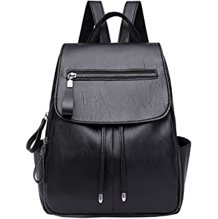 749a9282b5 Huabor Fashion Shoulder Bag Rucksack PU Leather Women Girls Ladies Backpack  Travel bag