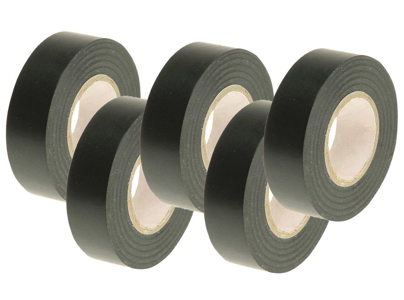 5x Home House Electrician Electrical Pvc Black Cable Repair Fix Insulation Tapes AutoPower