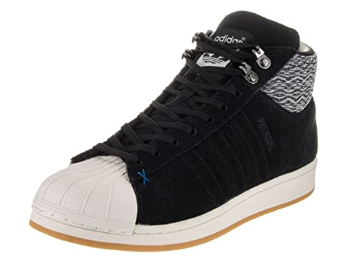 adidas Mens Pro Model BT BlackWhite Fabric