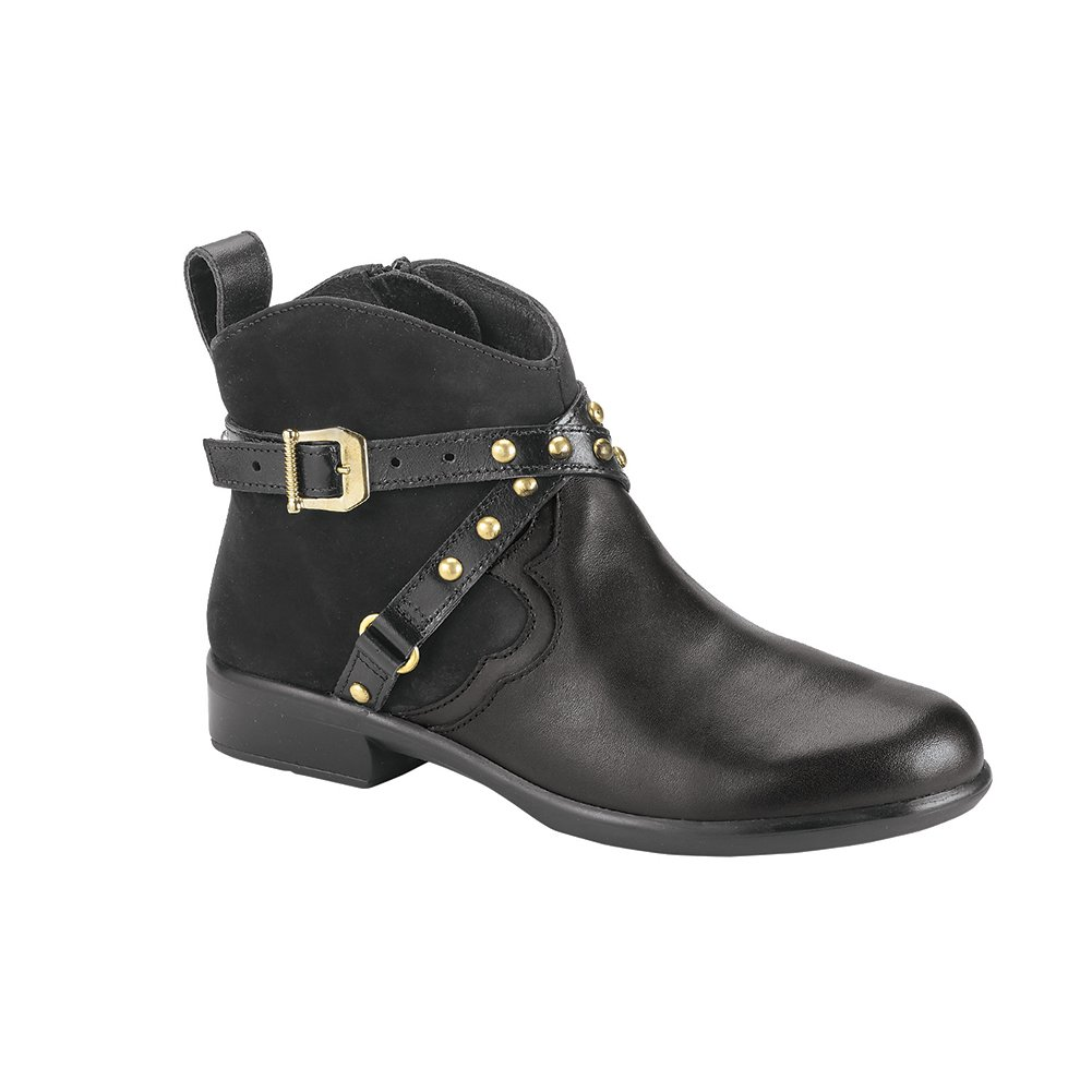 NAOT Taku Aura Women Boots, Black Raven/Velvet/Madras Comb,Size - 42