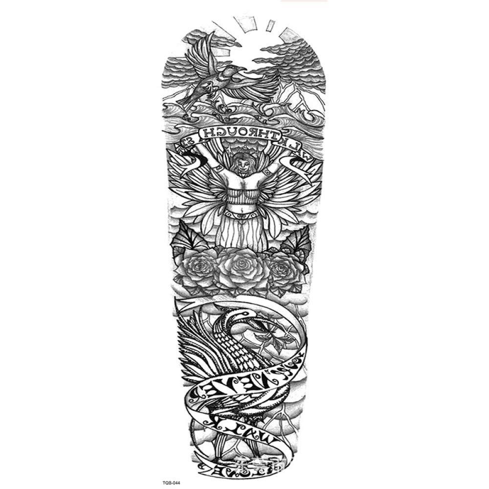 Nuevas pegatinas de tatuaje de brazo completo tigre tatuaje geisha ...
