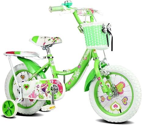 FINLR Bicicleta For Niños Bicicleta For Niños Bicicleta For Niños Bicicletas For Niños 12/14/16/18 Pulgadas 2-13 Años Hada Princesa Niña Bicicleta con Estabilizadores ...