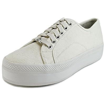 87f76eb8ce7 Michael Michael Kors Boerum Platform Canvas Chalk Sneaker (9)