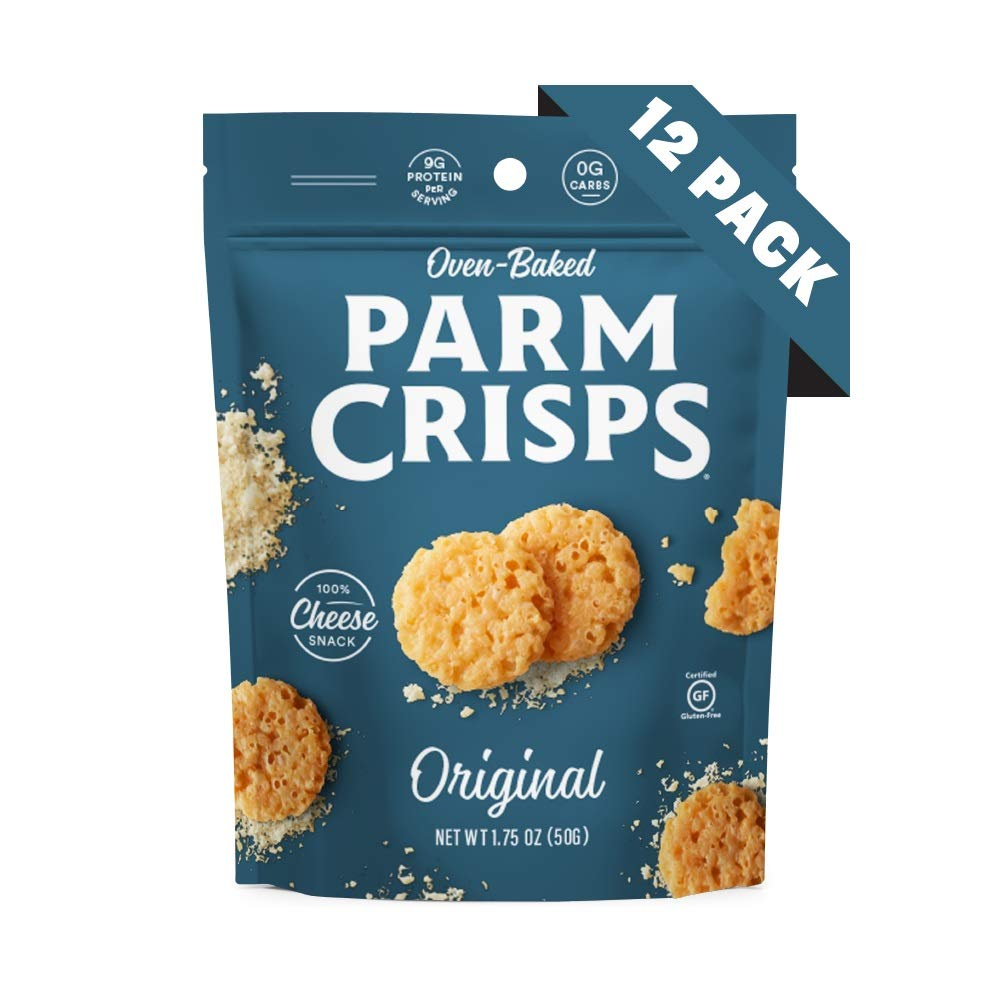 ParmCrisps Original, Keto Snacks, 1.75 Oz (Pack Of 12), 100% Cheese Crisps, Gluten Free, Sugar Free, Keto-Friendly