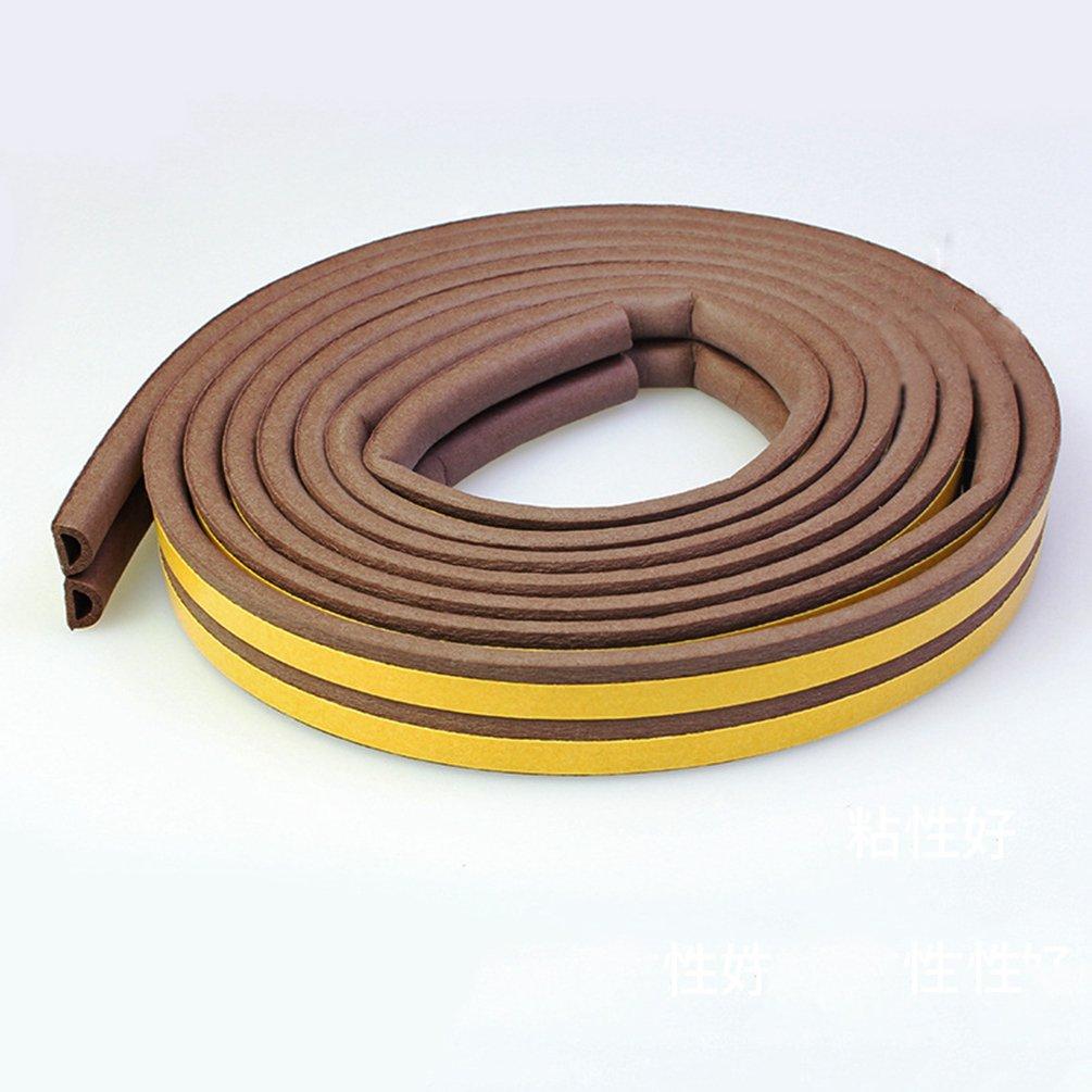 Lvguang Joint en D-Profile Adh/ésif pour Isolation Thermique de Portes et Fenetres Imperm/éable Blanc 9 6mm