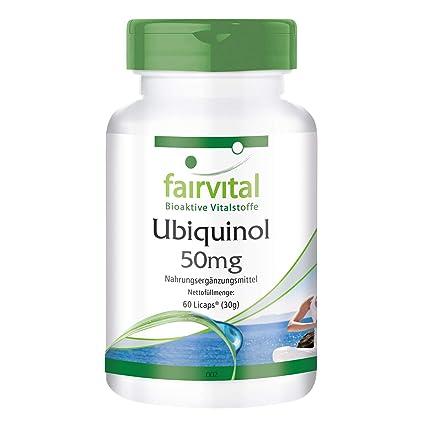 Ubiquinol 50 mg - para 1 mes - 60 Licaps - Kaneka QH - coenzima Q10