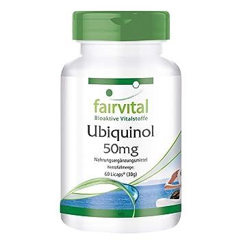 Ubiquinol 50 mg - para 1 mes - 60 Licaps - Kaneka QH - coenzima Q10 activa: Amazon.es: Salud y cuidado personal