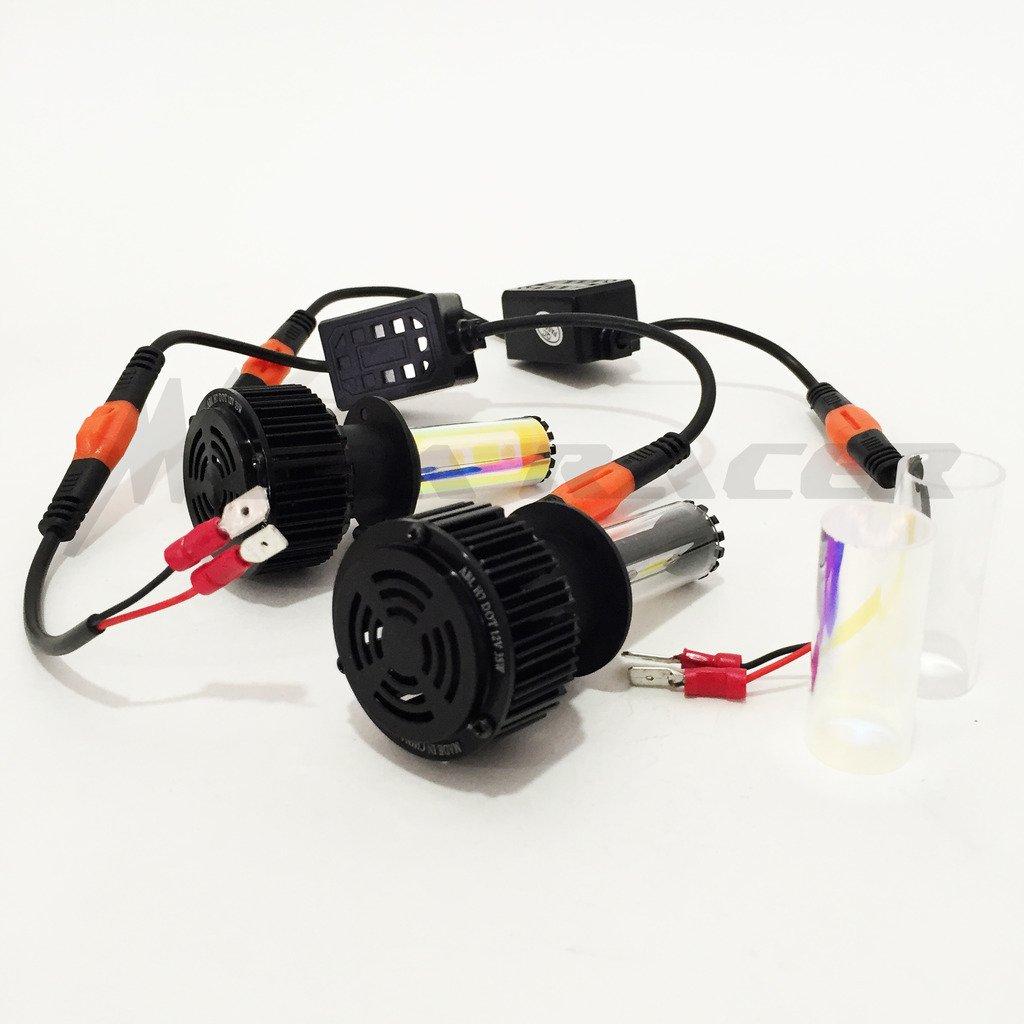 Amazon.com: Mega Racer Motorcycle H7 CREE COB LED 6K White 10K Blue LED Kit Headlight Replace Xenon Low Lo High Hi Beam Lamp Light Bulb: Automotive