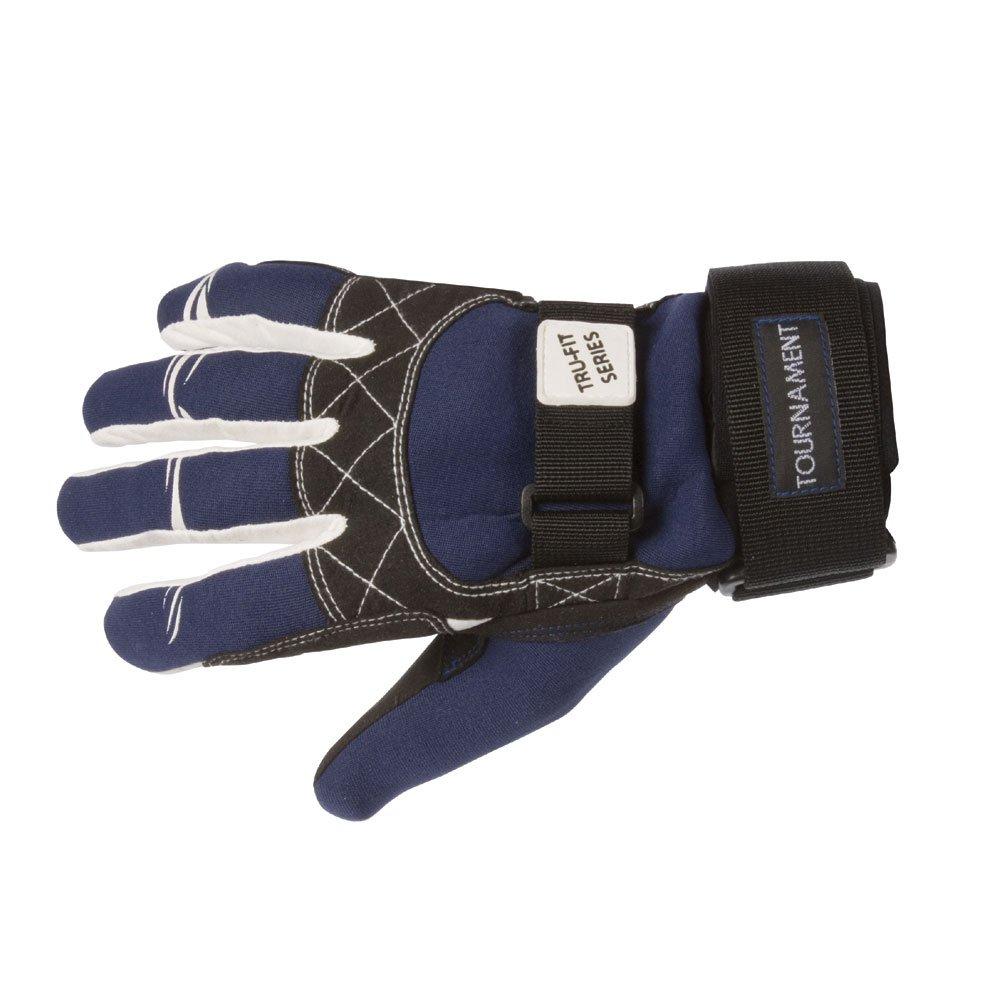 Straight Line Tournament - Guantes para deportes acuáticos, color azul/negro/blanco, talla XL