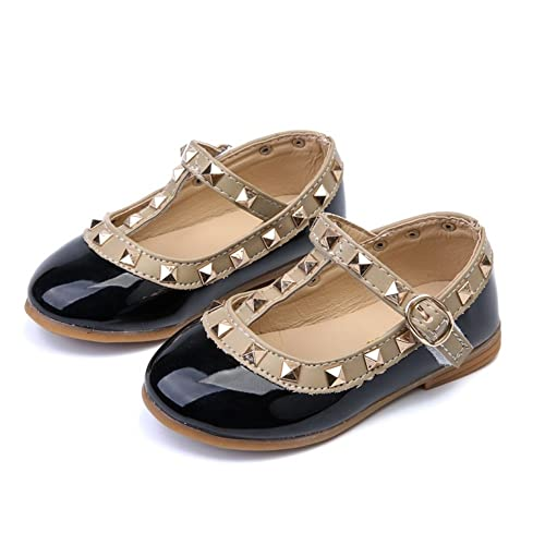 77c7a95178ad7a Image Unavailable. Image not available for. Color  MIGO BABY Kids Leather  Shoes Child Girls Sandals Shoes Leather Princess Shoe Kids Rivets Flat Shoes