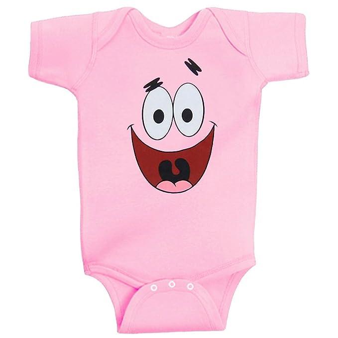 f5945bfdb690 Amazon.com  Patrick Star Face Onesie Romper-24 months  Clothing