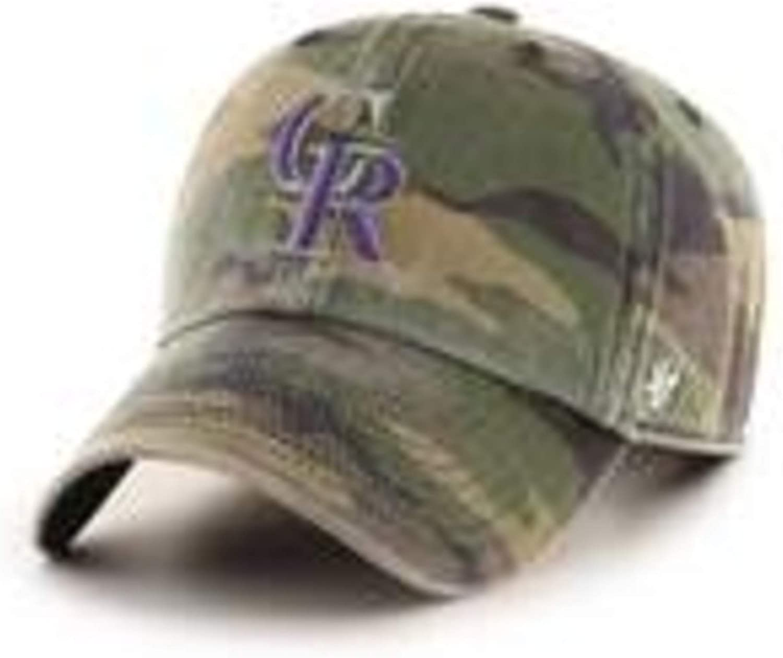 47 MLB Colorado Rockies Camo RGW Clean Up Cap Camouflage