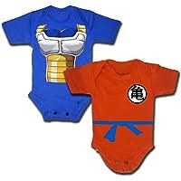 EDITHLICEA Pañalero de Goku + Pañalero de Vegeta Disfraces para Bebé Pañalero para Bebe de Dragon Ball Z Disfraces para Bebes Halloween