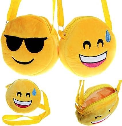 Amazon.com: Lovely Emoji Cambio Bolso cartera Wallet Emoji ...