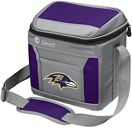 Coleman NFL Soft-Sided Insulated Cooler Bag, 9-Can Capacity with Ice, Baltimore Ravens