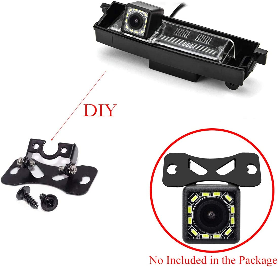 aSATAH Car 4.3 inch TFT in-Mirror Monitor and Rear View Camera for Toyota RAV4 RAV-4 RAV 4 Toyota Vanguard /& Vehicle Camera Waterproof and Shockproof Reversing Backup Camera 12 LED Camera