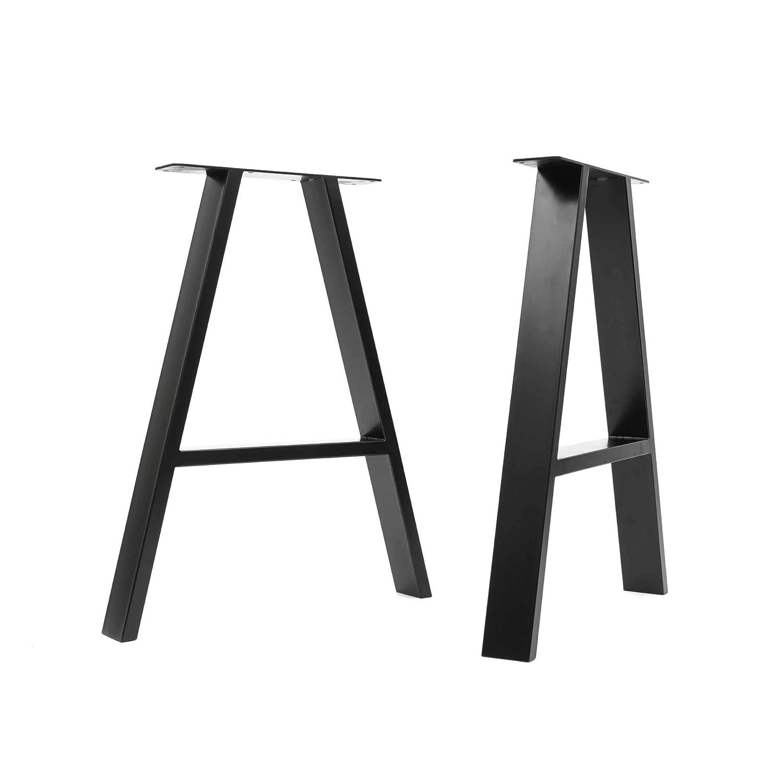 gu/ía de construcci/ón y protectores de suelo Mesa Grande, Negro satinado soldadura TIG con tornillos GRATUITOS HLC 2 x patas industriales de mesa cuadradas: acero acondicionado de superficie