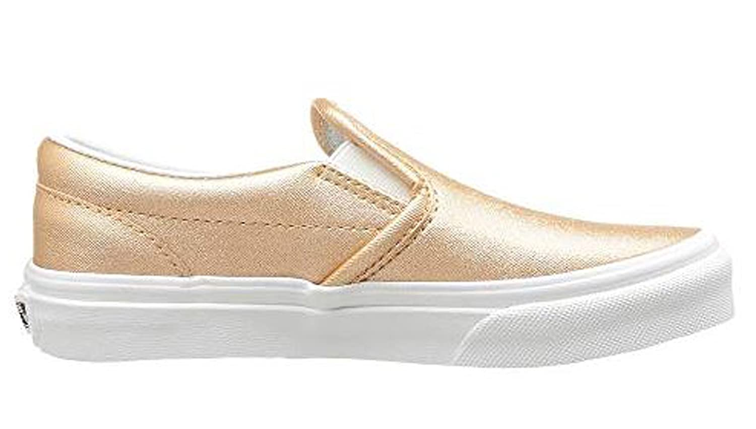 Vans Classic Slip-On (Metallic Leather) Light Copper Big Kids 4   Amazon.co.uk  Shoes   Bags 6a73dcd79
