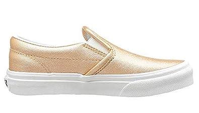 Vans Classic Slip-On (Metallic Leather) Light Copper Big Kids 4 ... 56f9b1c06