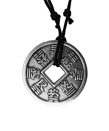 Amazon exoticdream big chinese feng shui lucky bagua i ching exoticdream big chinese feng shui lucky bagua i ching coin charm pewter pendant rope aloadofball Image collections