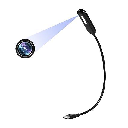 Cámaras Ocultas Lámpara de Mesa 1080P Cámara de Niñera Mini Video con Versión de luz Nocturna