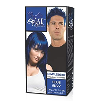 Splat Rebellious Semi Permanente Fantasy Kit completo de color de cabello en Blue Envy