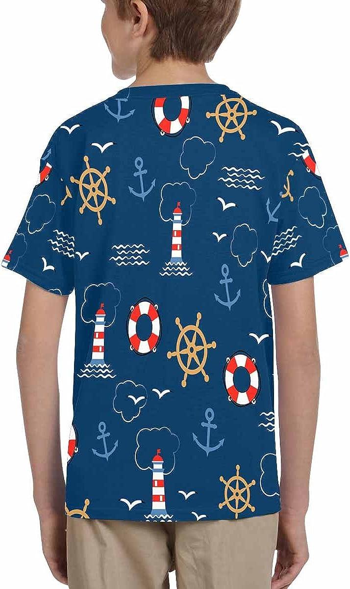 Helms Lifebuoys XS-XL Seagulls INTERESTPRINT Kids T-Shirt Sea Anchors