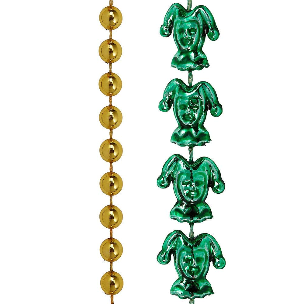 Amscan Mardi Gras Bead Necklaces, Carnival Party Supplies, 3 Assorted Colors, 30'' L, 576 Count by amscan (Image #2)
