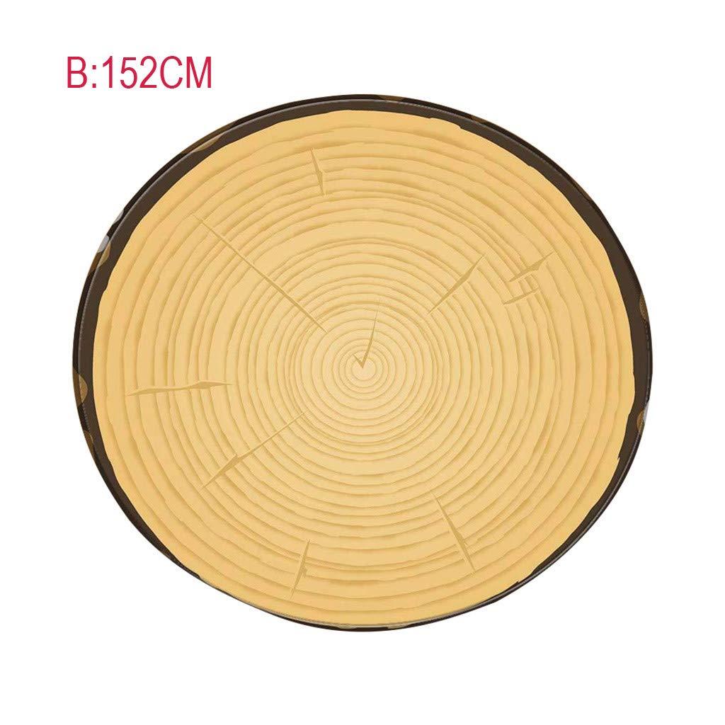 Hohaski Custom Flannel Rustic 3D Annual Rings of Wood Novelty Blanket, Growth Aging Theme Design, Beach Towel, Picnics, Camping, Original Home Decor for Real Lumberjacks (152cm)