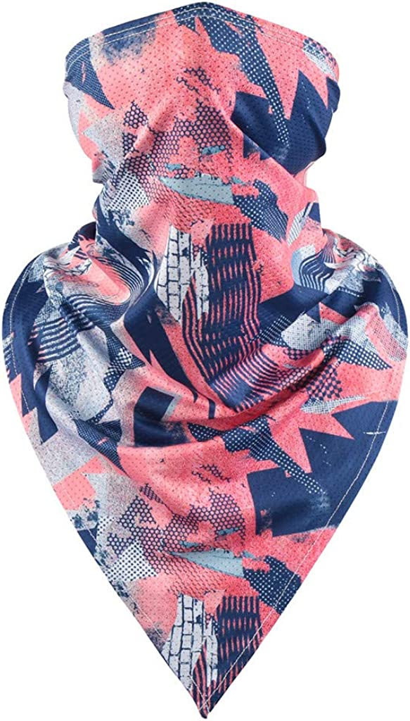 Summer Face Maks UV Protection Neck Gaiter Scarf Outdoor Windproof Dustproof Motorcycle Cycling Face Shield