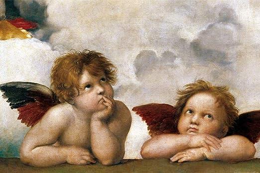 1art1 Raffaello - Gli Angeli di Raffaello (Dettaglio) Poster Stampa Geante XXL (120 x 80cm): Amazon.it: Casa e cucina