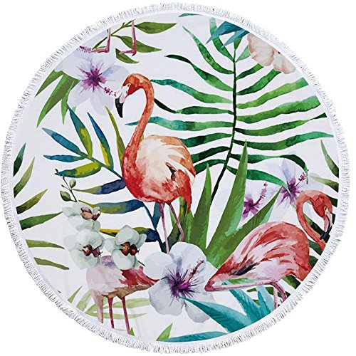 PYHQ Tropical Flamingo Thick Beach Towel