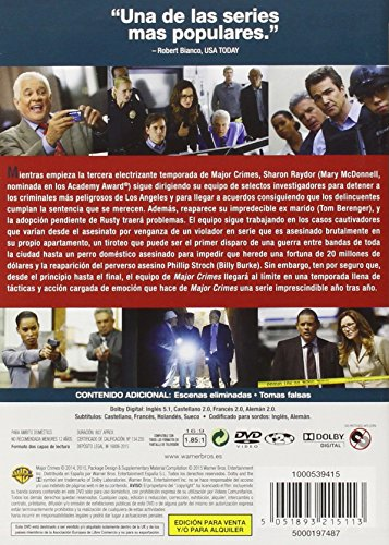 Major Crimes - Temporada 3 [DVD]