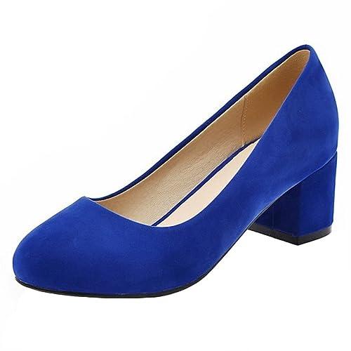 Tacon Ancho Sin Boca Cordones Alto Zapatos Moda Coolcept Mujer Baja w48qU016x