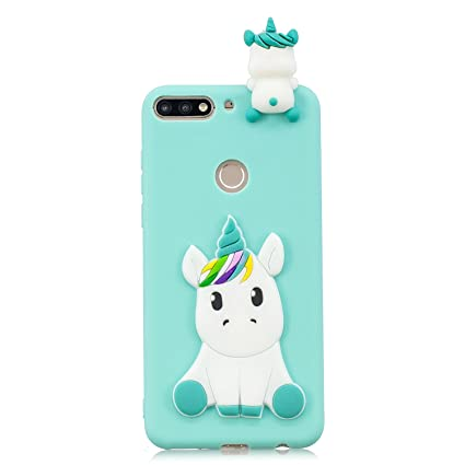 Amazon.com: Huawei Honor 7c Case, DAMONDY 3D Cute Unicorn ...