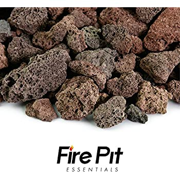 Amazon Com Fire Pit Essentials 10 Pound 3 4 Quot Medium Red