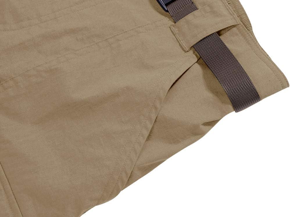 Jessie Kidden Pantalones Cortos de Trabajo para Hombre Estilo Informal Pesca con Cremallera de Secado R/ápido Ligeros para Senderismo 6053 Convertibles
