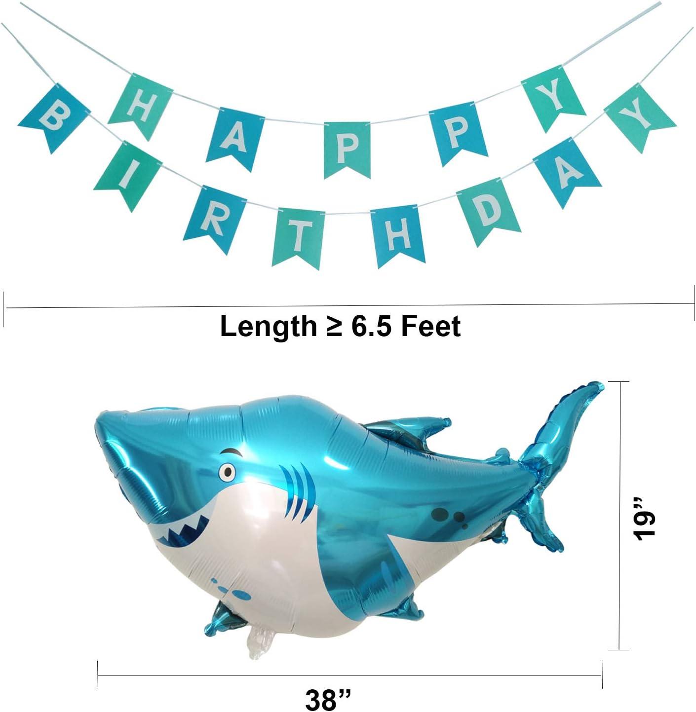 8 BALLOONS Latex Under the Sea Ocean Creatures Birthday Party Unisex Fish Colour